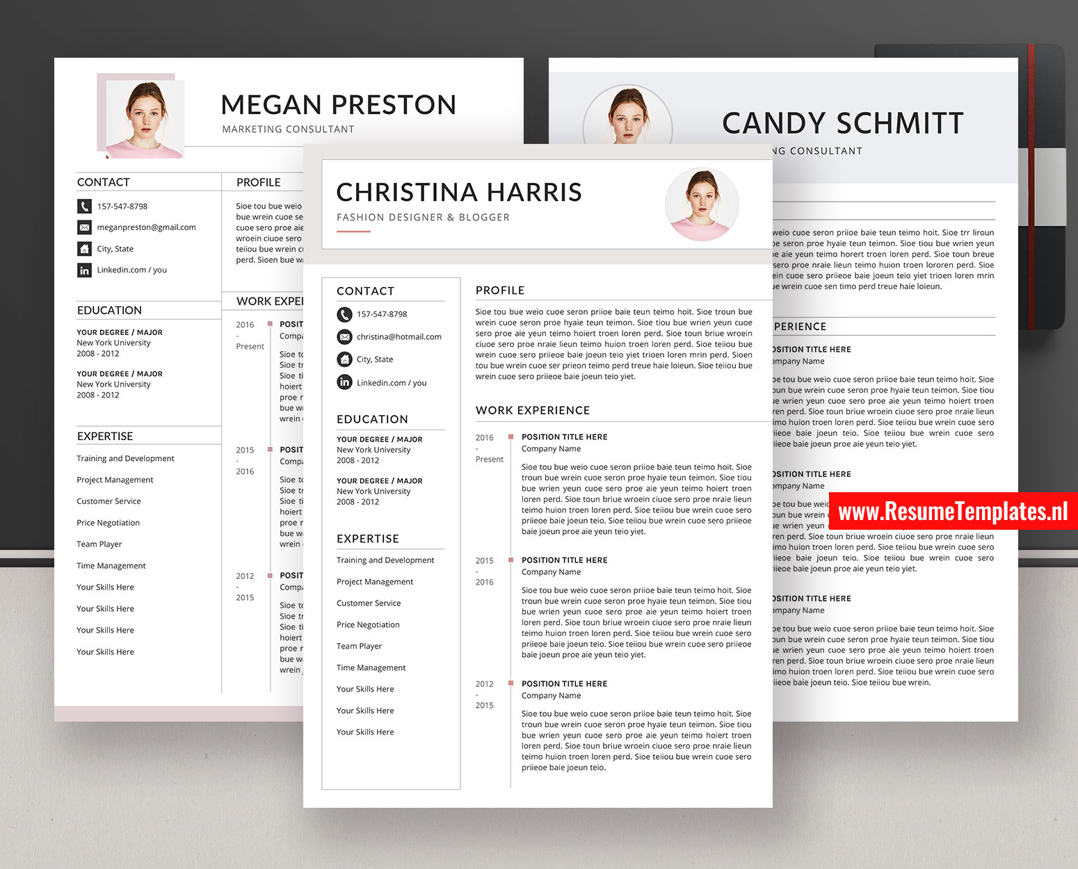 Modern Resume Templates Cv Templates Cover Letter Ms Word