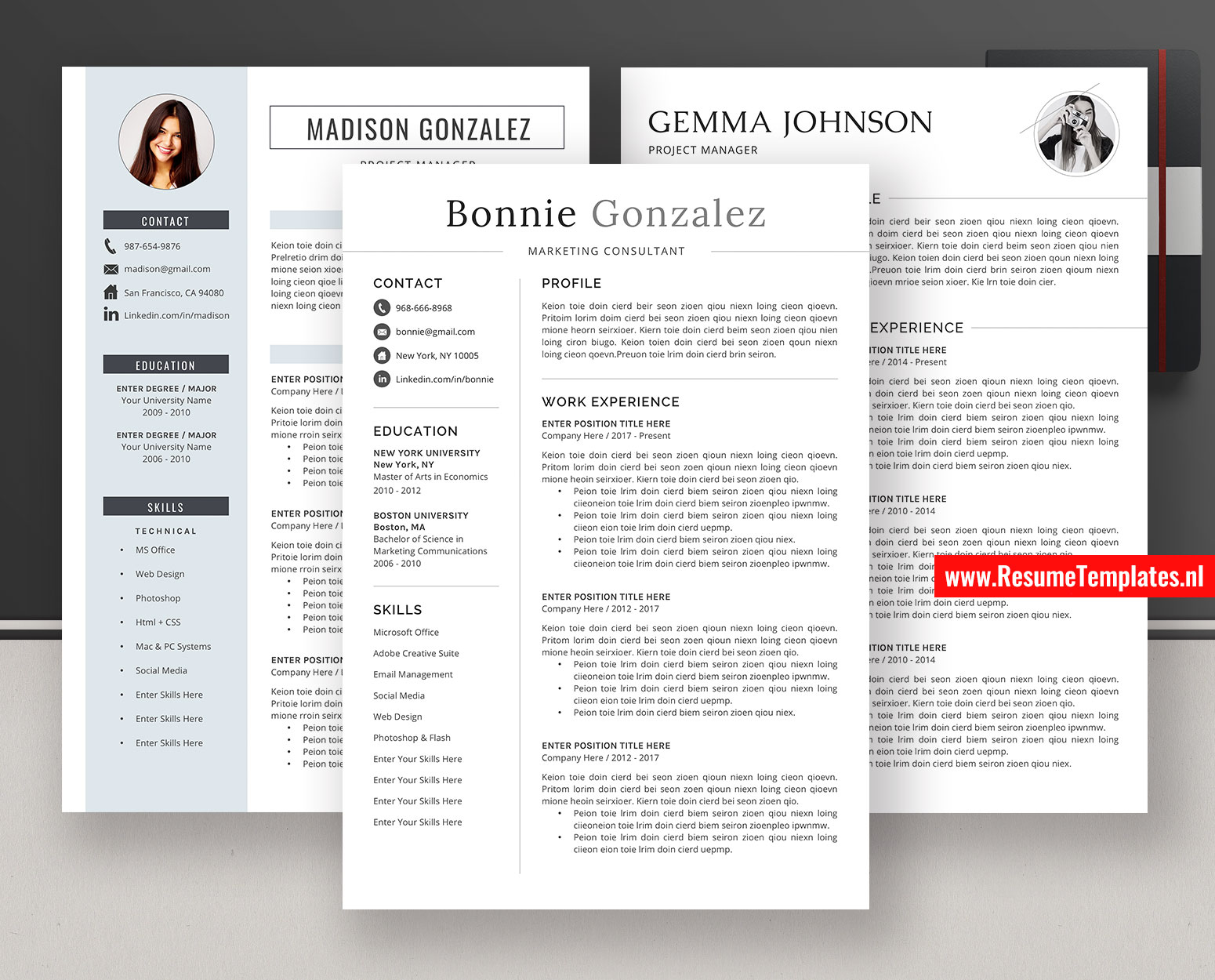 Simple Resume Templates Cv Templates Cover Letter Ms Word