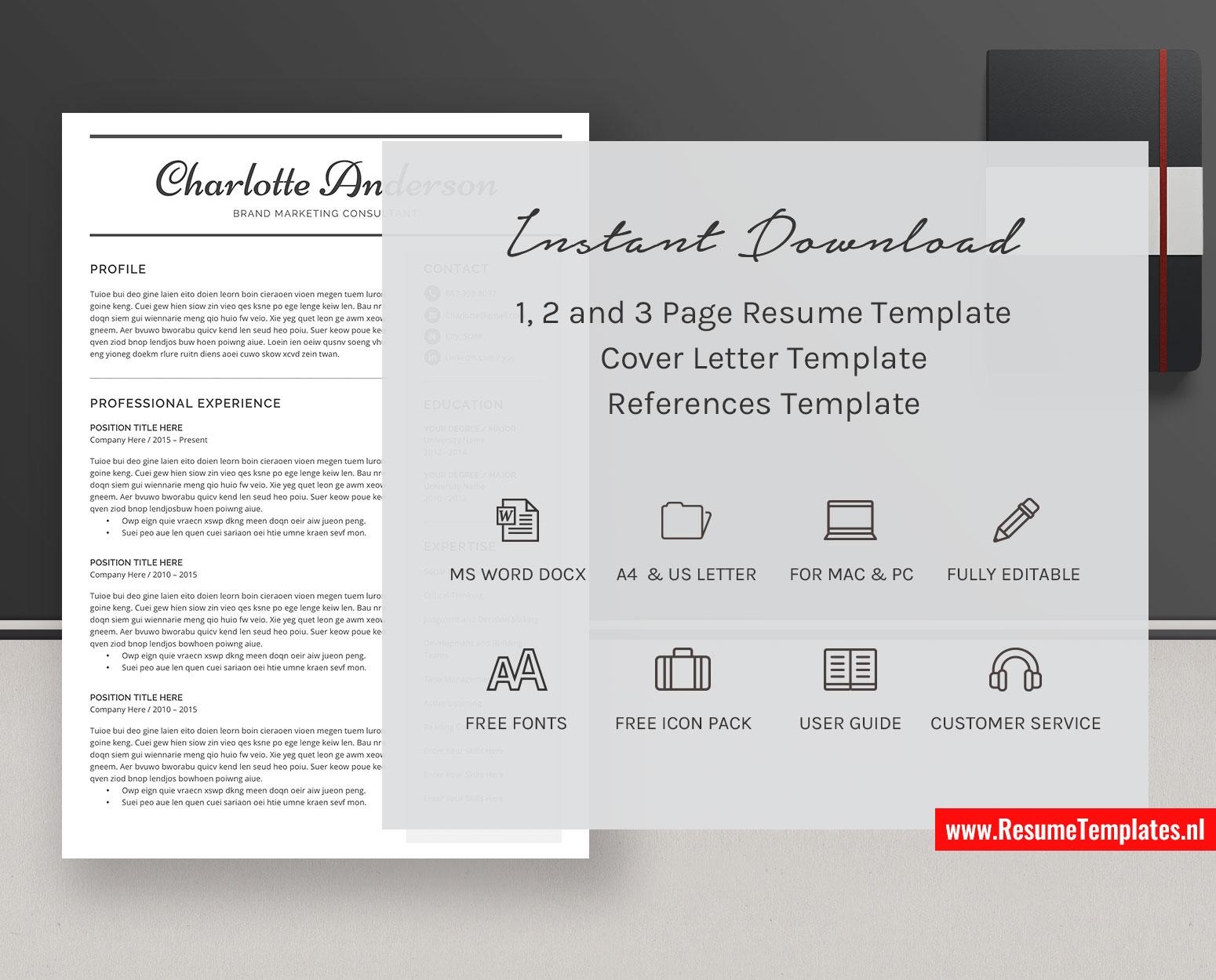 Student Cv Template Resume Template Minimalist Curriculum Vitae