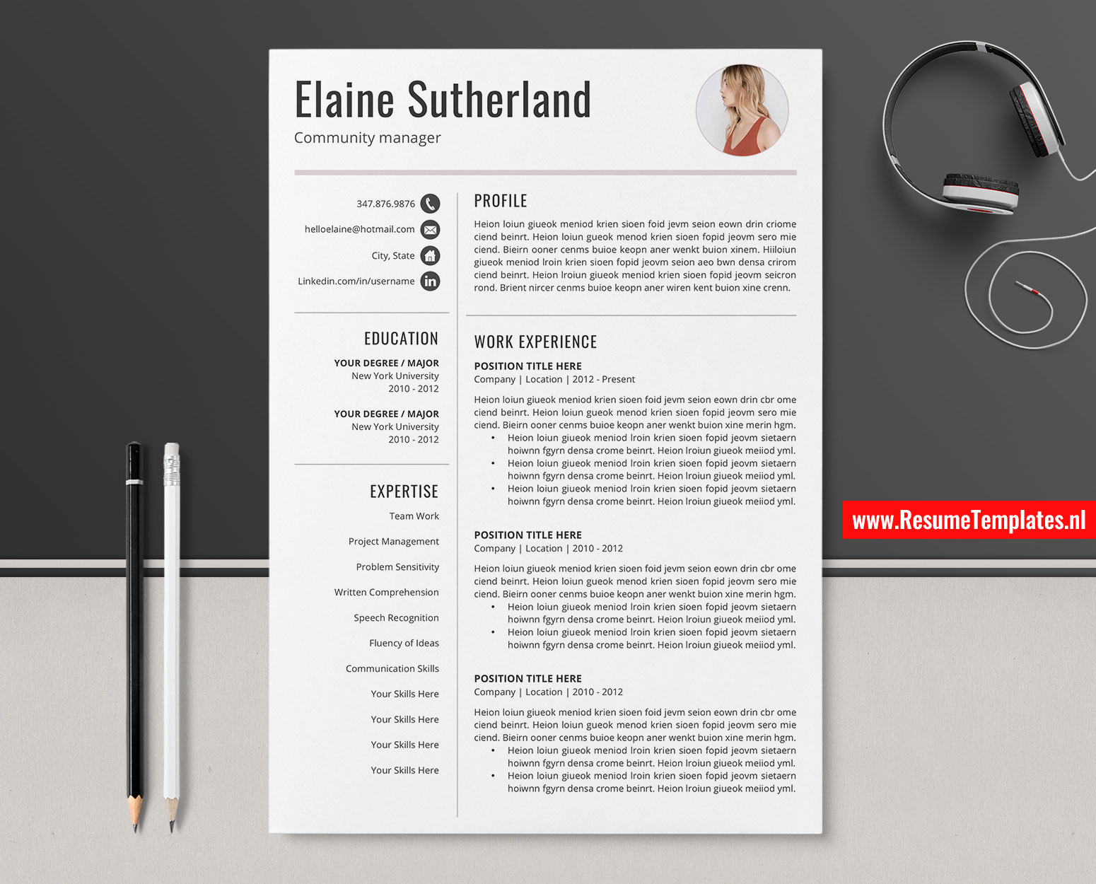 Cool Cv Templates from www.resumetemplates.nl