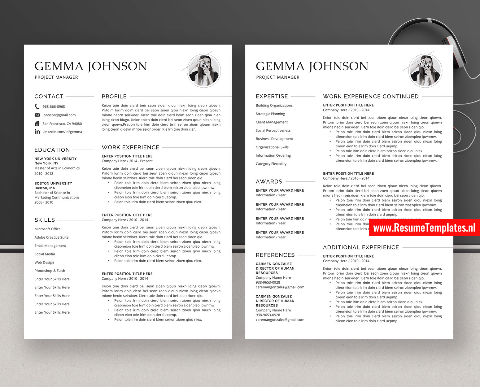 Resume Template For Word 2010 from www.resumetemplates.nl