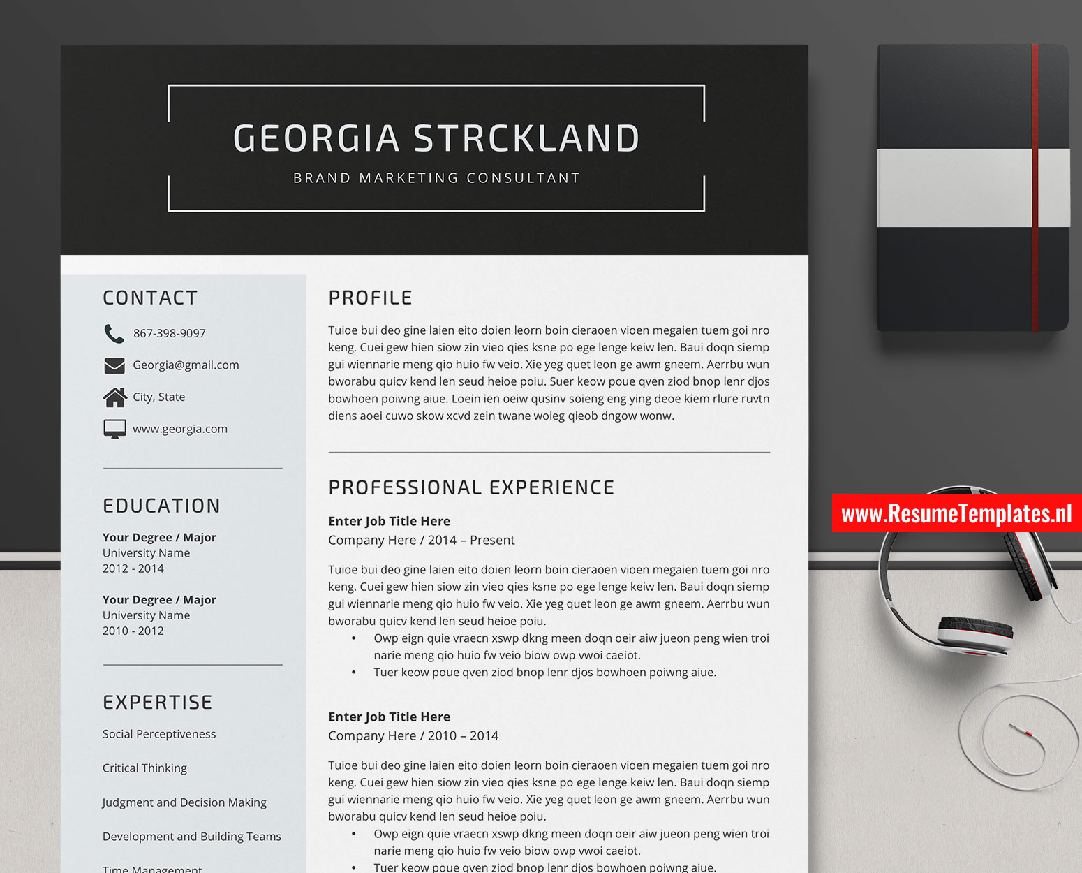 Template For A Cover Letter from www.resumetemplates.nl