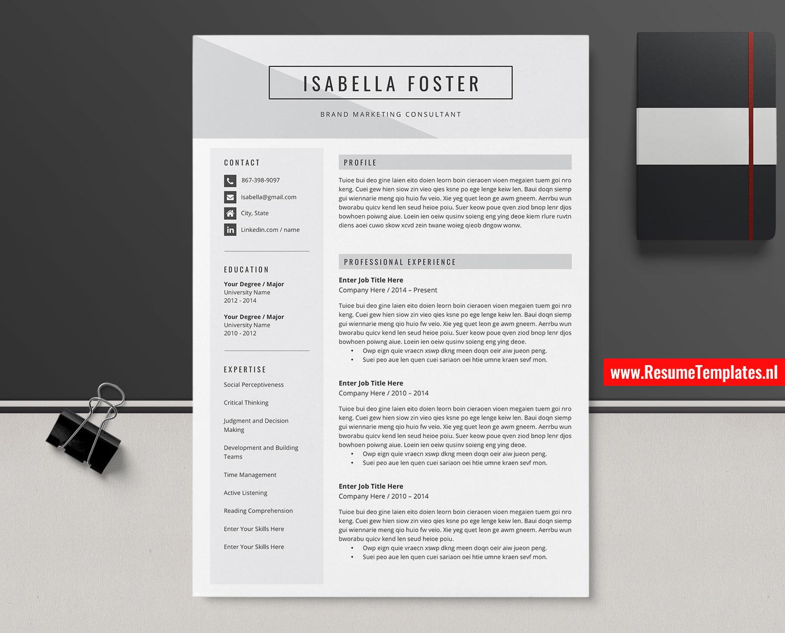 Teachers Resume Template Microsoft Word from www.resumetemplates.nl
