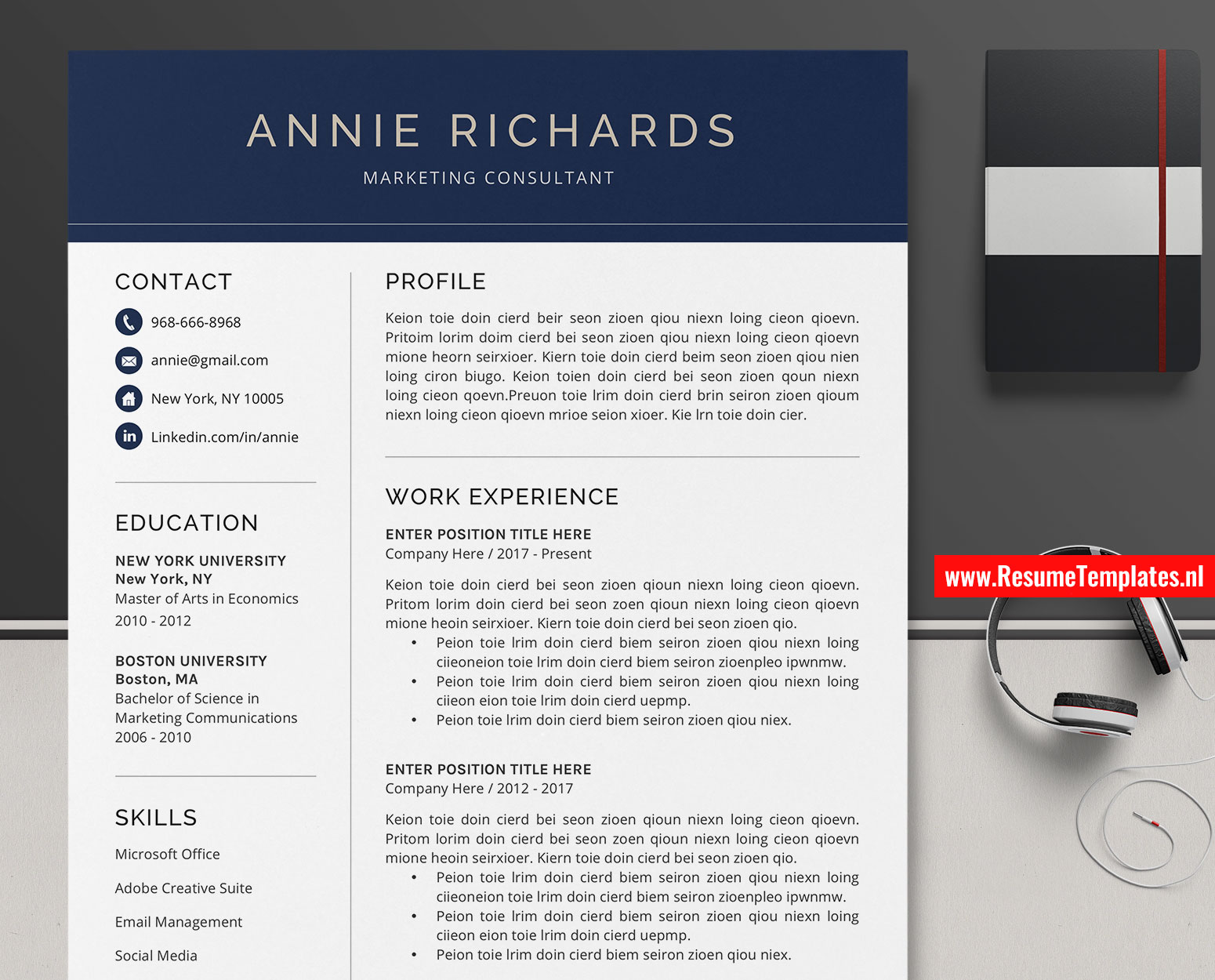 Microsoft Office Resume Template Download from www.resumetemplates.nl
