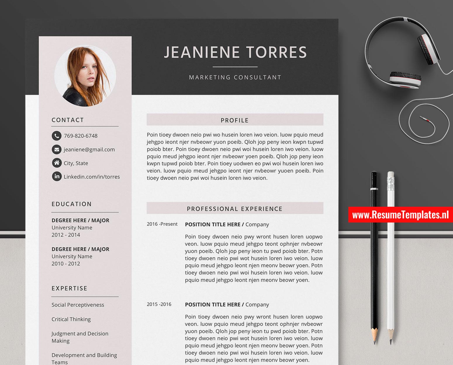 Editable Cv Template Resume Template For Microsoft Word