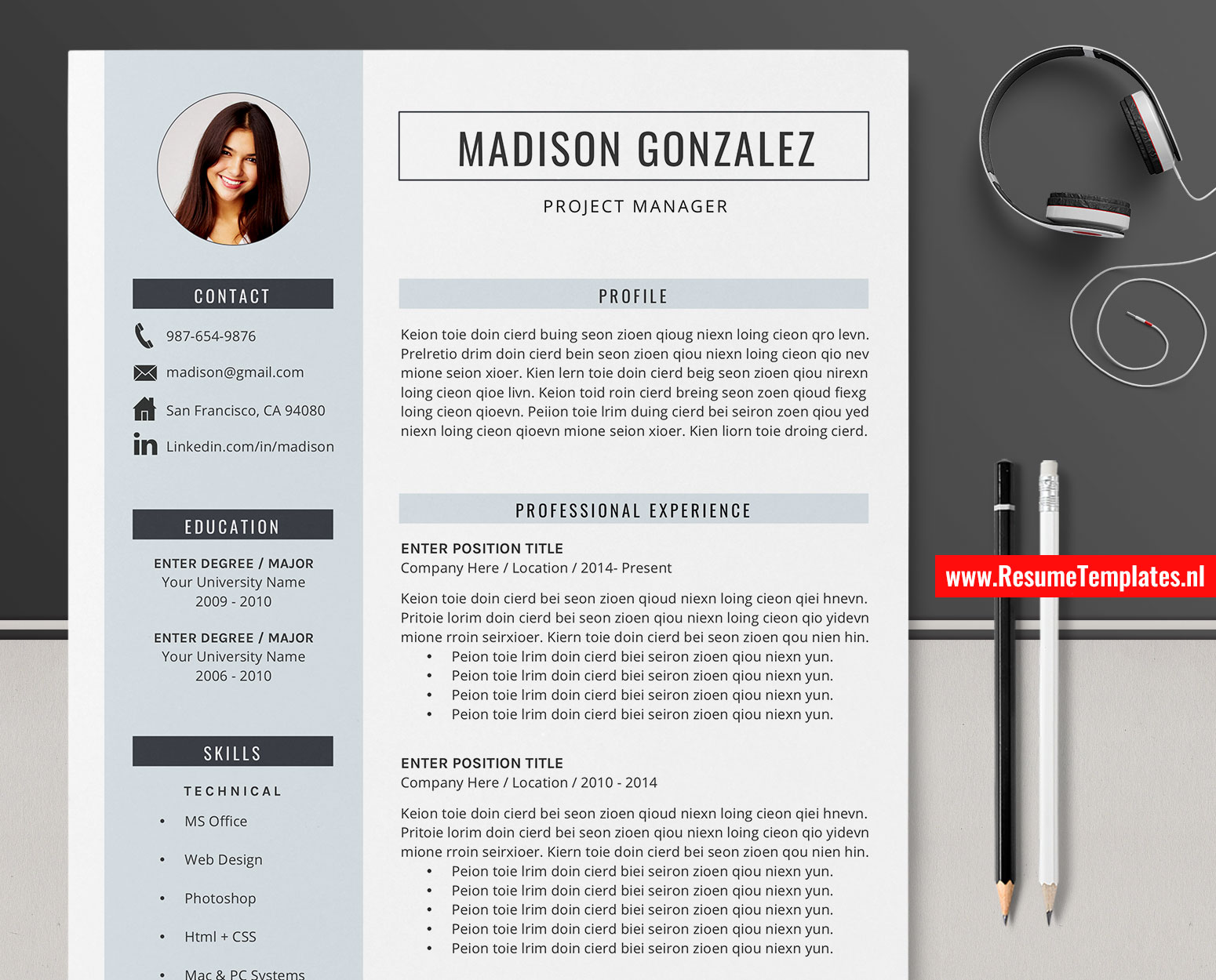 Simple Cv Template Resume Template For Microsoft Word Clean