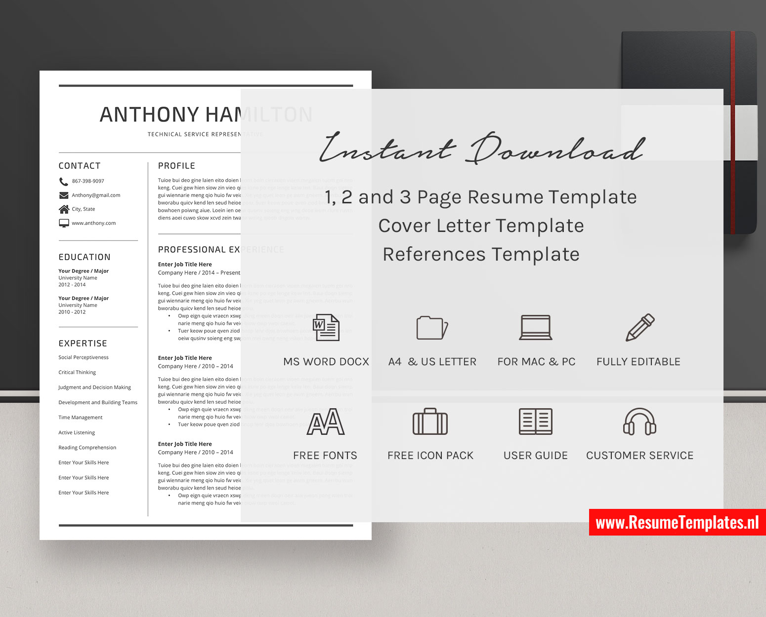 Minimalist Cv Template Resume Template Word Curriculum Vitae