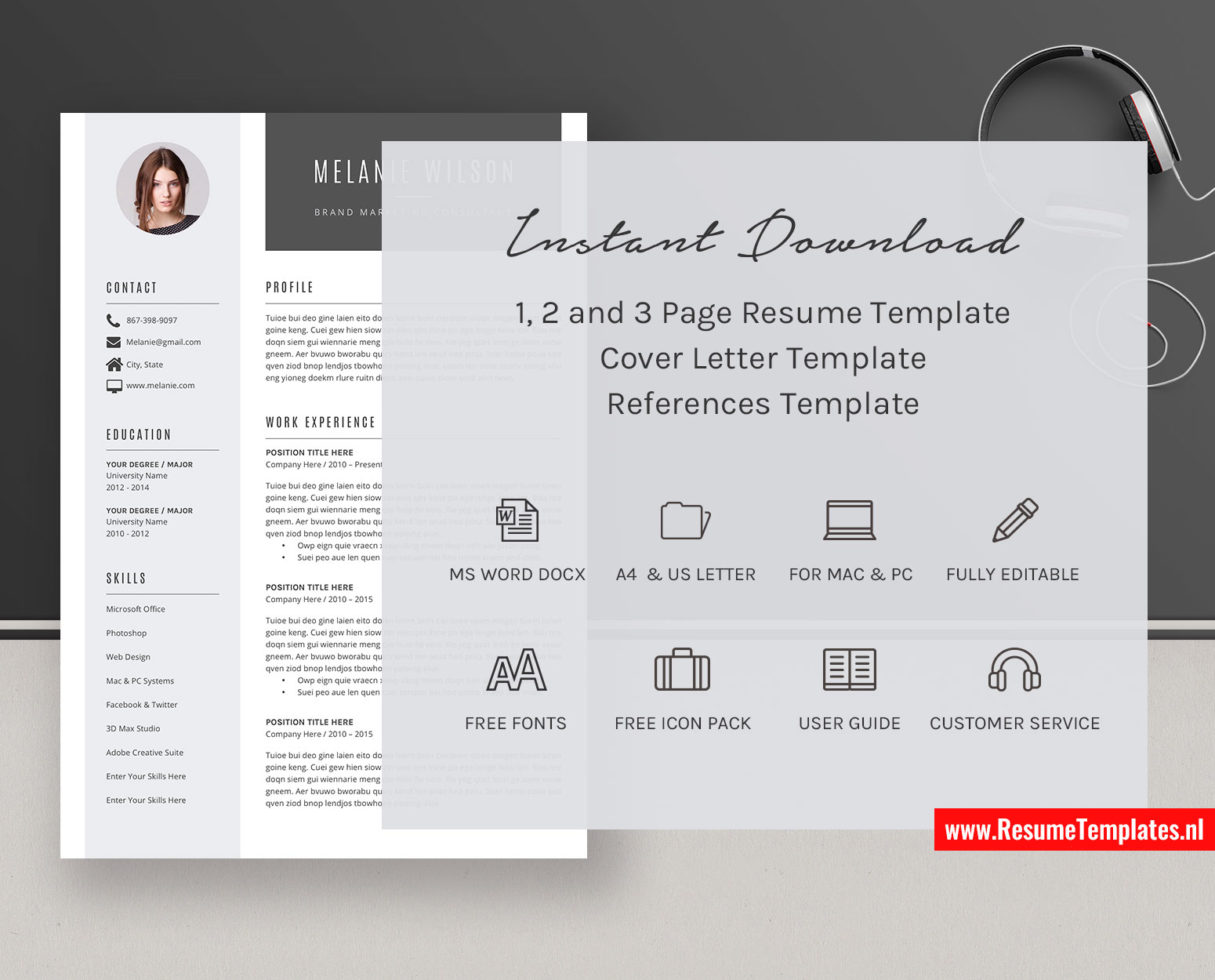 Microsoft Office Resume Template Downloads from www.resumetemplates.nl