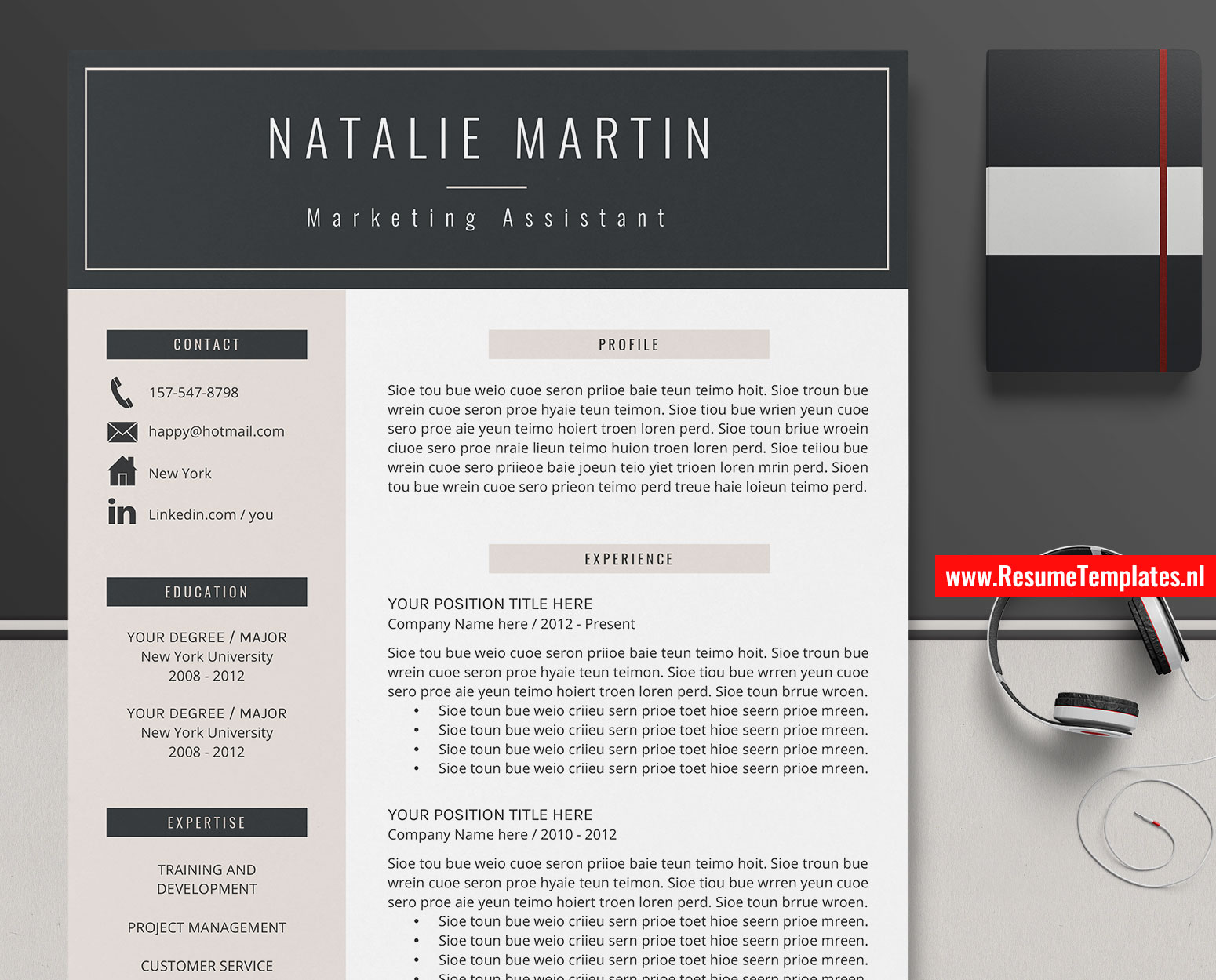 Creative Cv Templates from www.resumetemplates.nl
