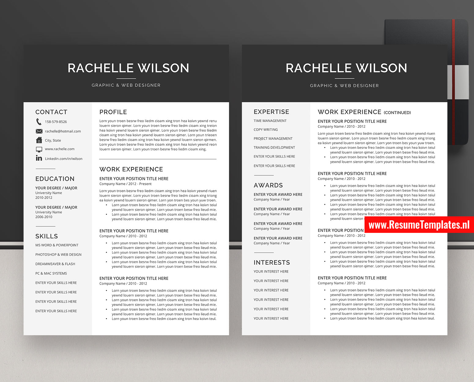 cv template    resume template for ms word  professional