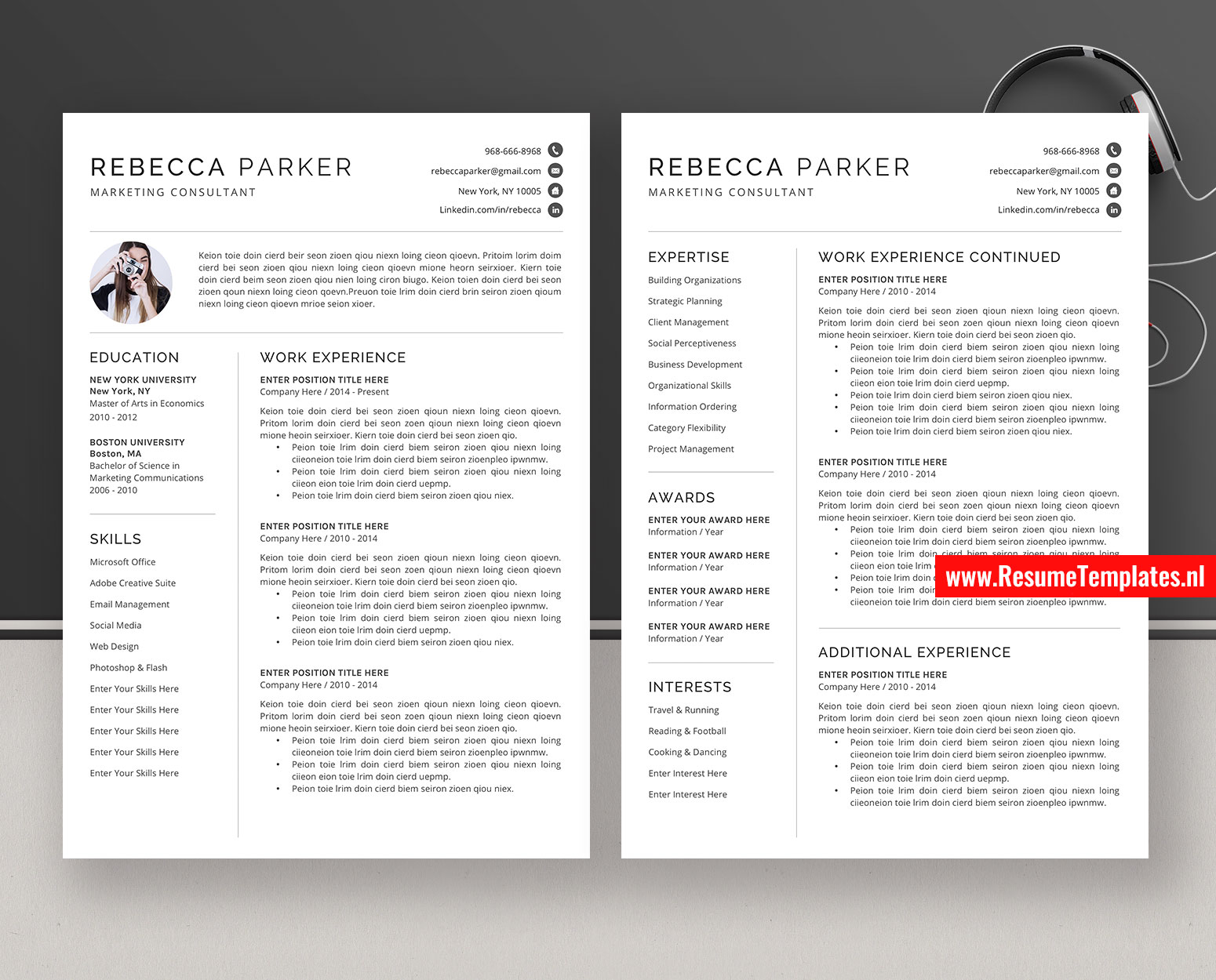 clean resume templates    cv templates  cover letter  ms
