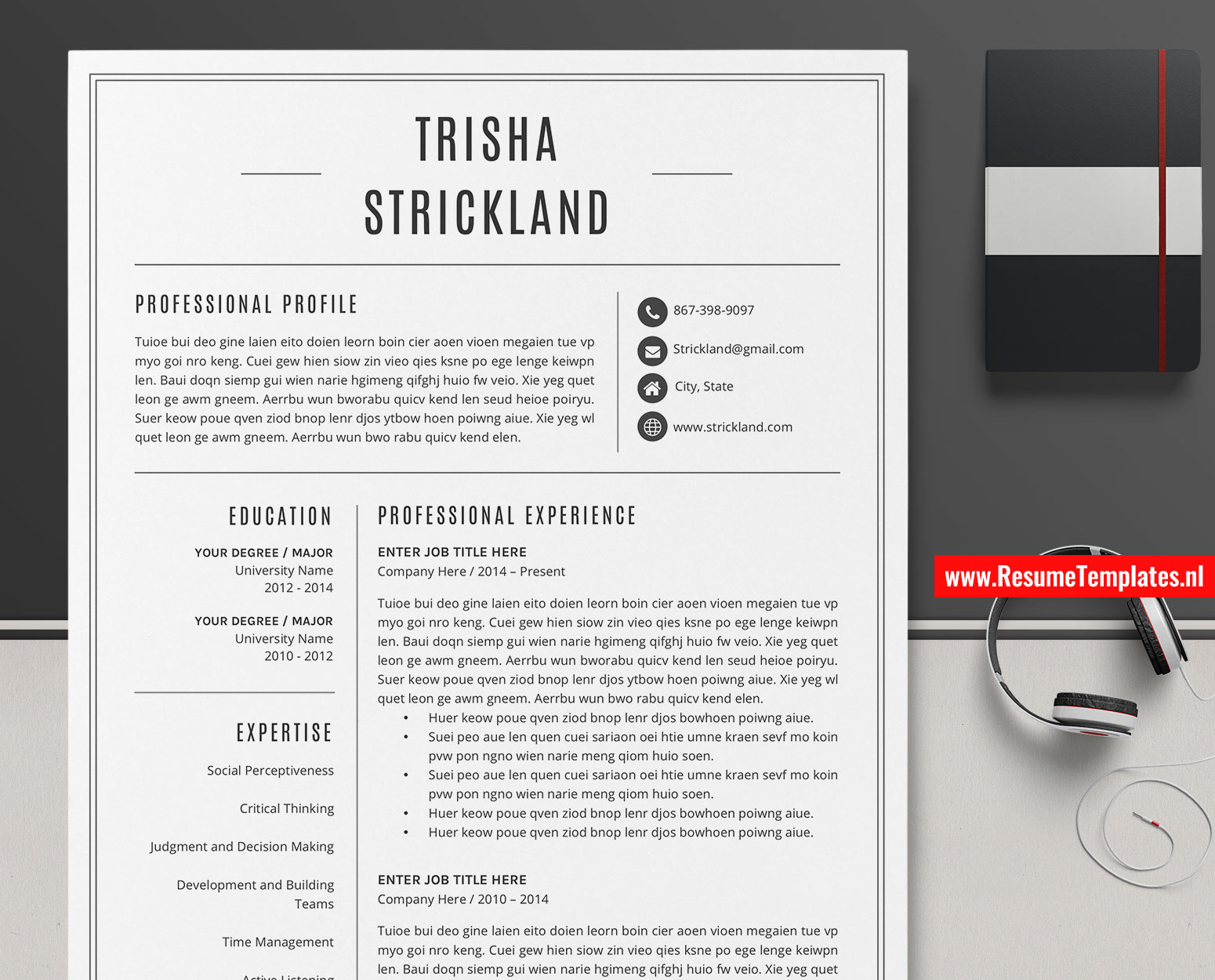 Microsoft Office Cover Letter Template from www.resumetemplates.nl