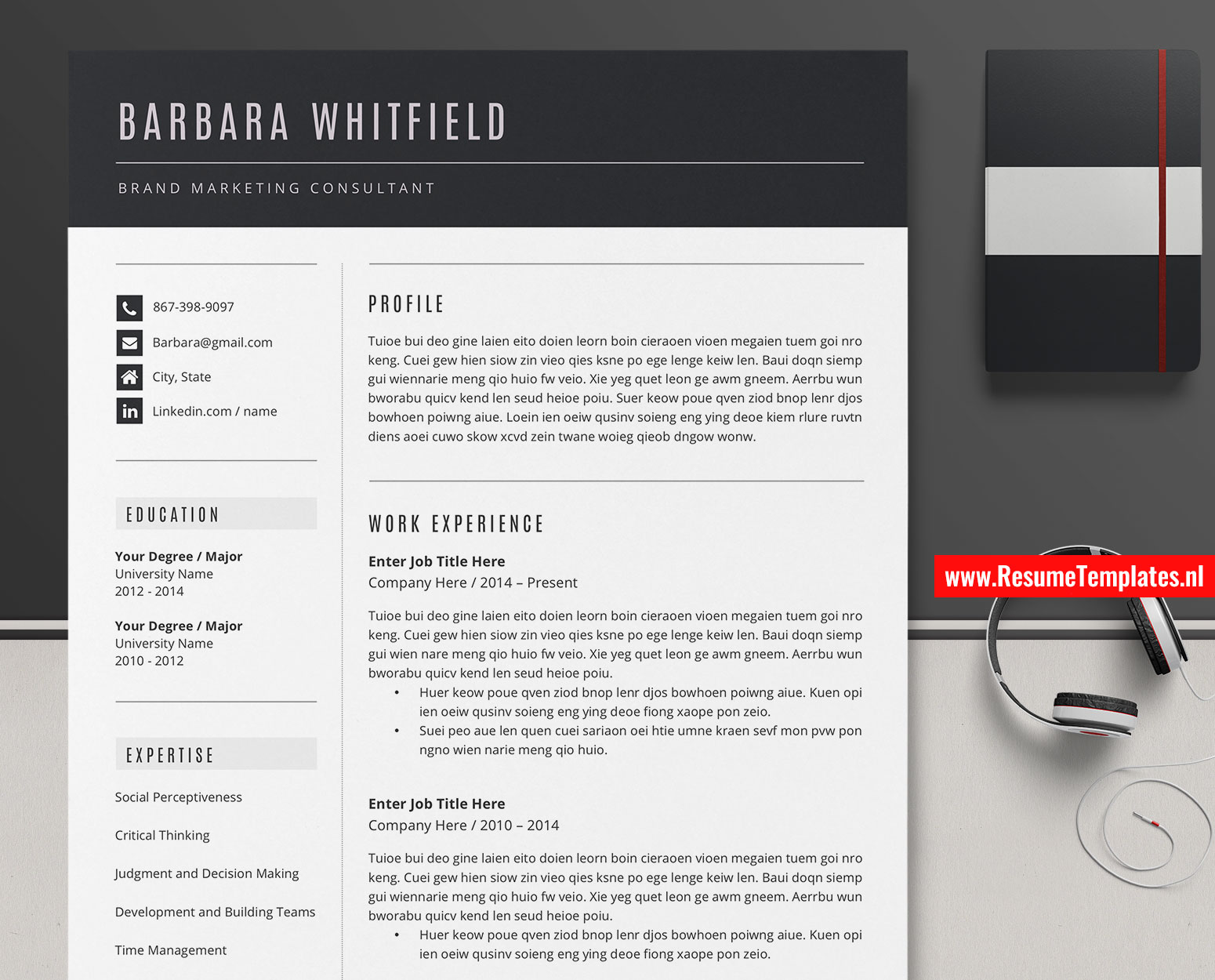 Editable Cv Template Resume Template Curriculum Vitae Ms Word
